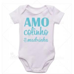 Body Bebê Amo Colinho da Madrinha