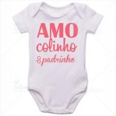 Body Bebê Amo Colinho do Padrinho