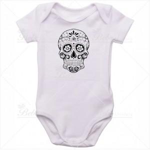 Body Bebê Caveira Mexicana