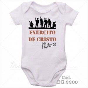 Body Bebê Exército de Cristo Aliste-se