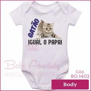 Body Bebê Gatão Igual o Papai
