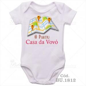 Body de Bebê Partiu Casa da Vovó