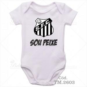 Body Bebê Sou Peixe Santos