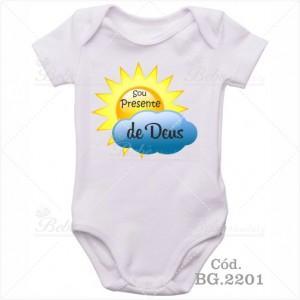 Body Bebê Sou Presente de Deus