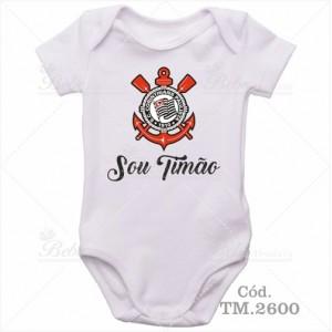 Body Bebê Sou Timão Corinthians