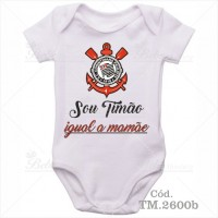 Body Bebê Sou Timão Corinthians Igual a Mamãe