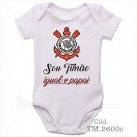 Body Bebê Sou Timão Corinthians Igual o Papai