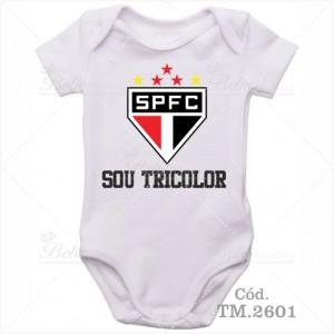 Body Bebê Sou Tricolor São Paulo