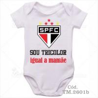Body Bebê Sou Tricolor São Paulo Igual a Mamãe
