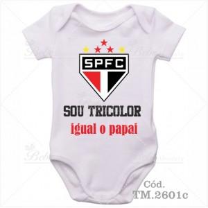 Body Bebê Sou Tricolor São Paulo Igual o Papai