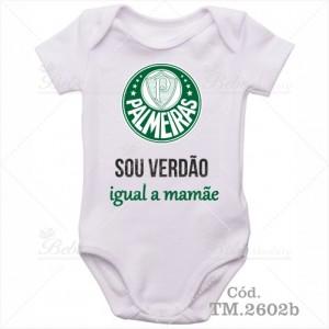 Body Bebê Sou Verdão Palmeiras Igual a Mamãe