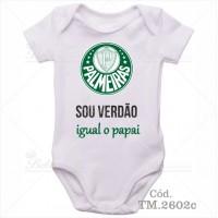 Body Bebê Sou Verdão Palmeiras Igual o Papai