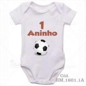 Body de Bebê 1 Ano Bola de Futebol