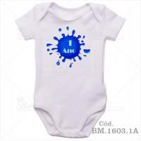 Body de Bebê 1 Ano Bolha Azul