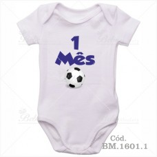 Body Bebê 1 Mês Bola de Futebol