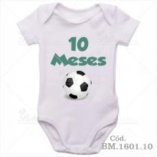 Body Bebê 10 Meses Bola de Futebol