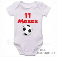 Body Bebê 11 Meses Bola de Futebol