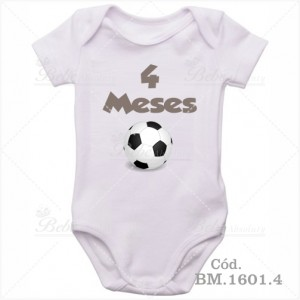 Body Bebê 4 Meses Bola de Futebol