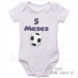 Body Bebê 5 Meses Bola de Futebol