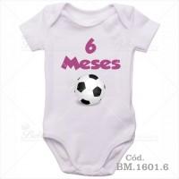 Body Bebê 6 Meses Bola de Futebol