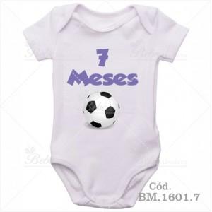Body Bebê 7 Meses Bola de Futebol