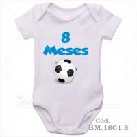 Body Bebê 8 Meses Bola de Futebol