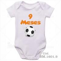 Body Bebê 9 Meses Bola de Futebol