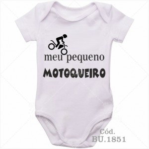 Body Bebê Meu Pequeno Motoqueiro