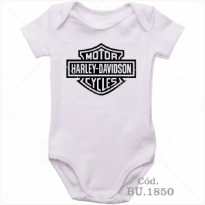 Body Bebê Motor Harley Davidson Cicles