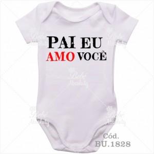 Body Bebê Pai Eu Amo Você