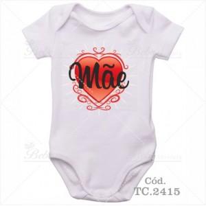 Body Bebê Coração de Mãe