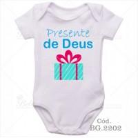 Body Bebê Presente de Deus
