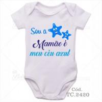 Body Bebê Sou a Estrela, Mamãe é meu Céu Azul