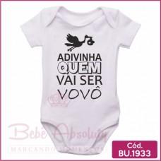 Body Bebê Adivinha Quem Vai Ser Vovô