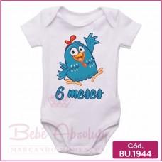 Body Bebê Galinha Pintadinha 6 meses