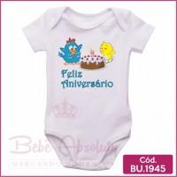 Body Bebê Galinha Pintadinha Feliz Aniversário