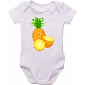 Body Bebê Abacaxi Cortado