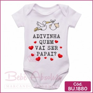 Body Bebê Adivinha Quem Vai Ser Papai? Cegonha