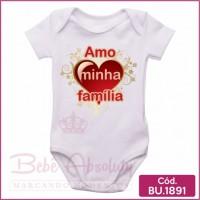 Body Bebê Amo Minha Família
