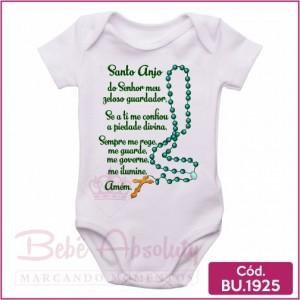 Body Bebê Anjo da Guarda Oração