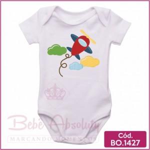 Body Bebê Aviãozinho Vermelho