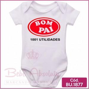 Body de Bebê Bom Pai Mil Utilidades