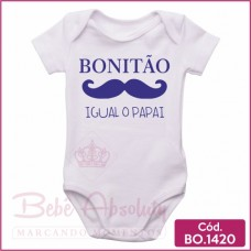 Body Bebê Bonitão Igual o Papai