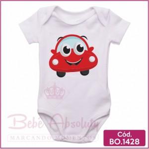 Body Bebê Carrinho Vermelho