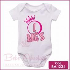 Body Bebê 1 Mês