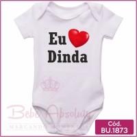 Body de Bebê Eu Amo Dinda