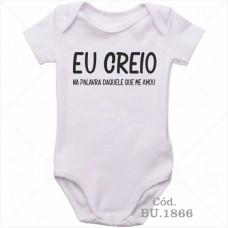 Body Bebê Eu Creio