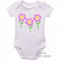 Body Bebê Flores