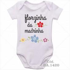 Body Bebê Florzinha da Madrinha