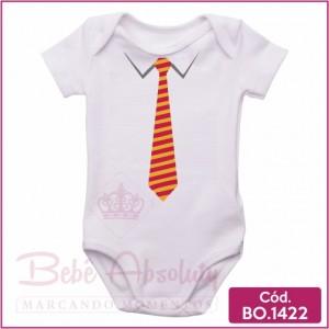 Body Bebê Gravata Laranja
